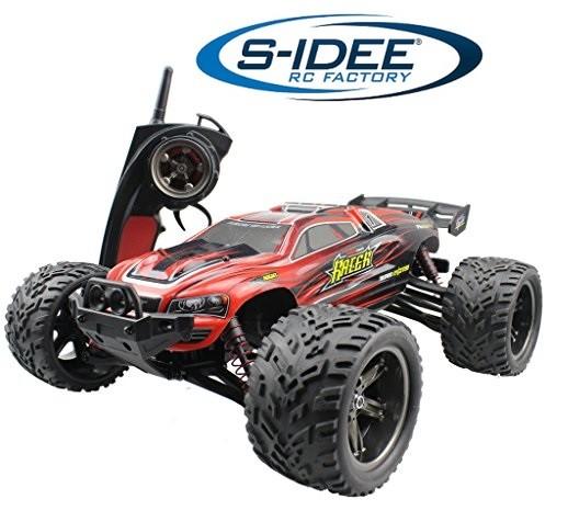 s-idee® 18160 9116 RC Auto Buggy wasserabweisender Monstertruck 1:12 mit 2,4 GHz über 40 km/h