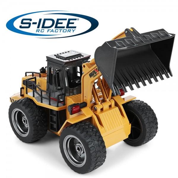 s-idee® S1520 Rc Radlader Bagger 1:18 mit 2,4 GHz schwenkbarer Schaufel