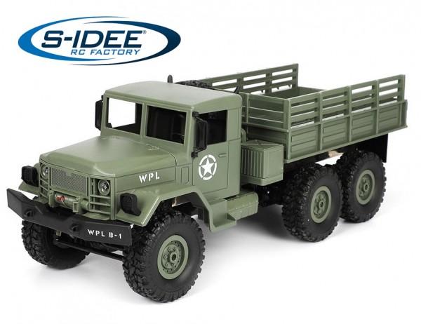 s-idee® WPL B16 1/16 6WD 2.4G Truck mit Beleuchtung ferngesteuert Militär Truck
