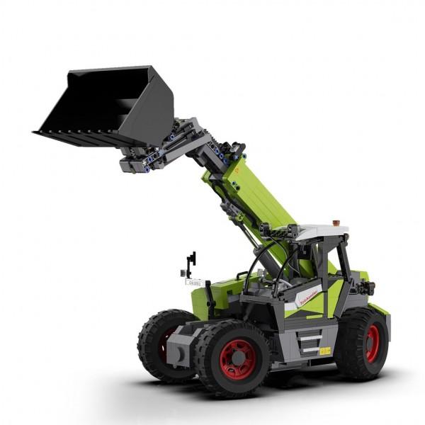 s-idee® Cada C61051W Teleskoplader 1469 Teile Bausteinfahrzeug RC Motor und Fernbedienung