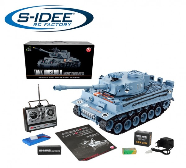 s-idee® RC Panzer YH4101E-1 German Tiger 1:16 2.4 Ghz