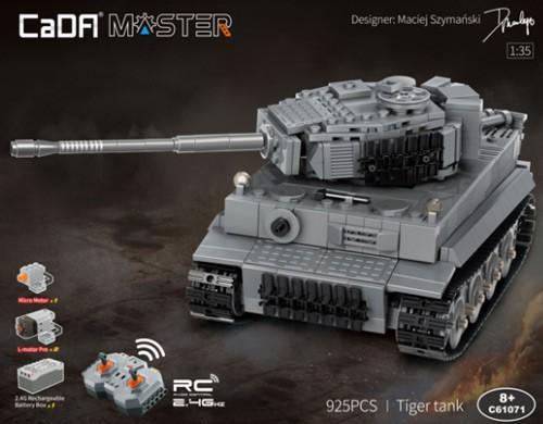 Cada C61071W German Tiger Panzer RC Tank Bricks Master Series 925 Teile
