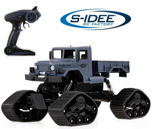s-idee® S1231WS 1/12 4WD 2.4G wasserdichter Crawler mit Beleuchtung ferngesteuert Militär RC Truck