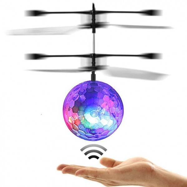 s-idee® 19105 Heliball fliegender Ball mit LED + USB Ladekabel RC flying Ball