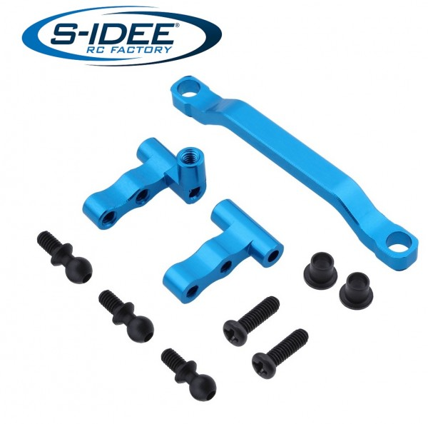s-idee® Aluminium Lenkservo-Sparer Zubehör Ersatzteil für RC-Modell A959 A959-A A959-B A979-B