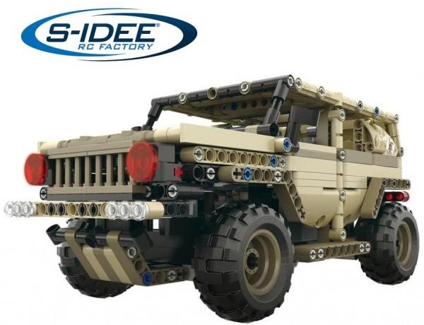 s-idee® 13009 RC Bausteintruck Militärfahrzeug Pickup Truck