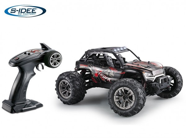 s-idee® 9137 RC Monstertruck 1:16 mit 2,4 GHz 36 km/h schnell Truggy Auto