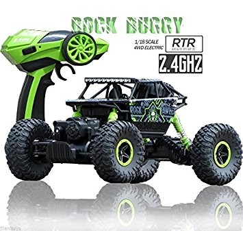 s-idee® 18132 Rock Crawler 1801 mit 2,4 GHz 4WD Buggy Monstertruck