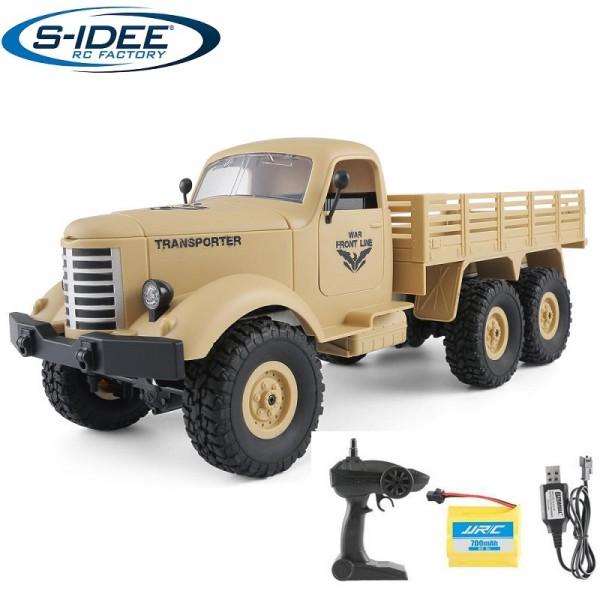 s-idee® Q60 1/16 6WD 2.4G RC Truck mit Beleuchtung ferngesteuert Militär Truck JJRC