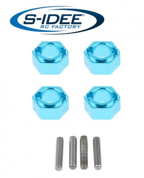 s-idee® Aluminium Sechskantsteckverbinder Zubehör Ersatzteil für RC-Modell A959 A959-A A959-B A979-B