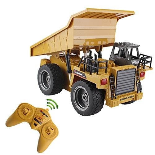 s-idee® S1540 Rc Kipper 6 Kanal Tieflader Truck 1:18 mit 2,4 GHz kippbare Ladefläche