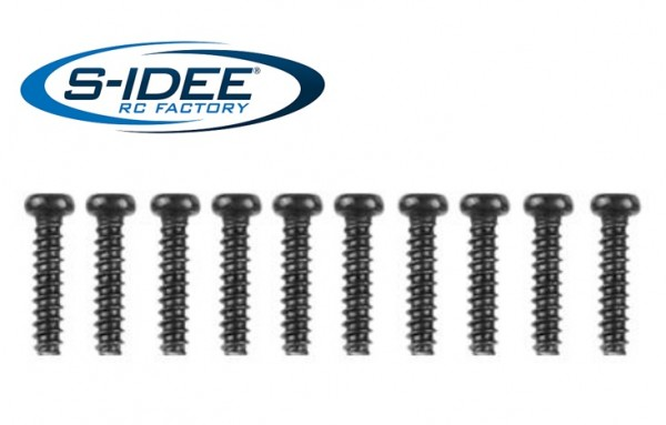 s-idee® 25-LS12 Zubehör Ersatzteil Schrauben Rundkopf 2,6 x 20 mm für RC-Modell S9125 18173 1:10