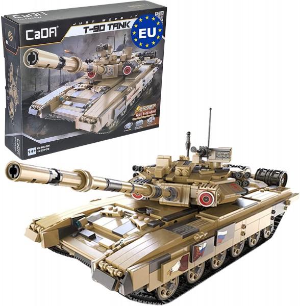 s-idee® Cada C61003W Russischer T-90 Kampfpanzer 1:21 (45cm) Sandfarben 360° schwenkbarer Turm aufrü