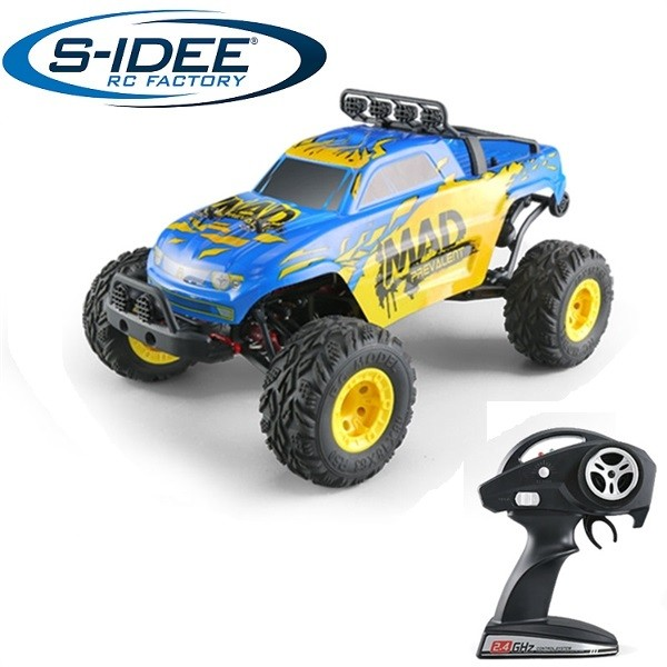 s-idee® 18142 S40 RC Auto Buggy Monstertruck 1:12 mit 2,4 GHz ca. 50 km/h schnell, wendig, voll digi