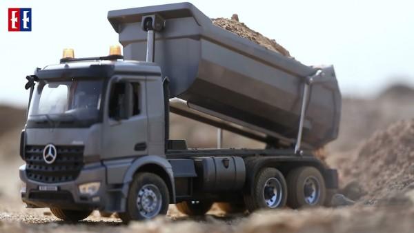 s-idee® E590-003 Rc Dump Truck Metall Kipper 1:20 Lkw 10 Kanal Kipplader Double E