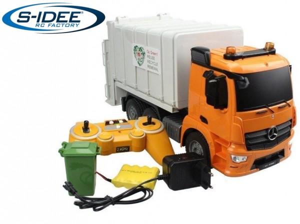 s-idee® E560-003 RC-Müllwagen 8 Kanal 1:20 mit 2,4 GHz