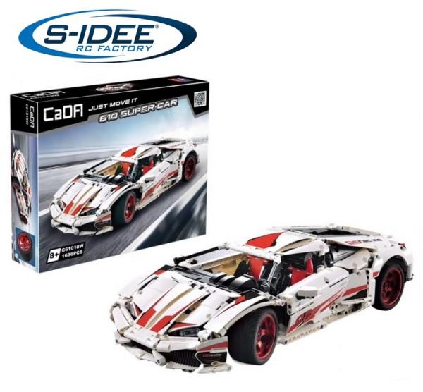 s-idee® Cada C61018W Bausteinfahrzeug Supersport Auto