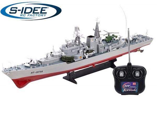 s-idee® 20004 Rc Kriegsschiff 2879 ferngesteuertes Boot Zerstörer Smasher XXL RC ferngesteuertes Sch