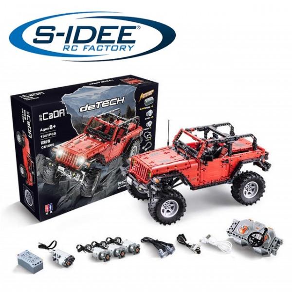 s-idee® Cada C61006W RC Bausteinfahrzeug Offroad-Truck