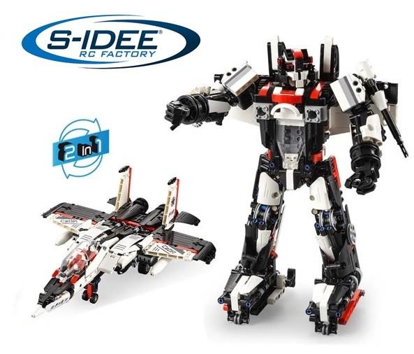 s-idee® Cada C51030 RC 2in1 Modell Roboter und Flieger