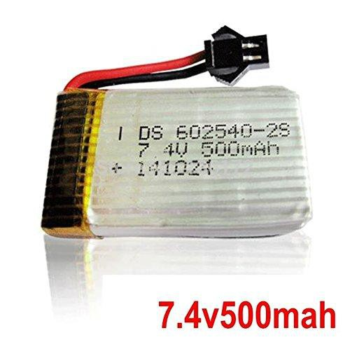 7,4V 500 mAh Akku für Quadrocopter s-idee S183C/S183W Quadro mit HD Kamera/Wifi