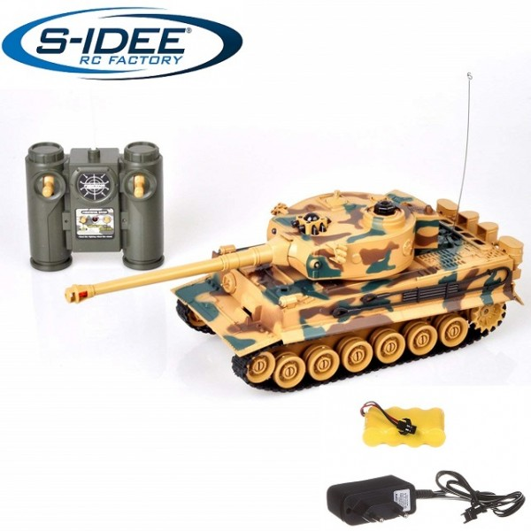 s-idee® 22003 Battle Panzer King Tiger 99808 1:28 mit integriertem Infrarot Kampfsystem 2.4 Ghz RC R