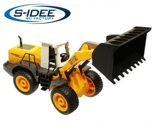 s-idee® E519-003 RC Radlader 1:20 mit 2,4 GHz schwenkbarer Schaufel ferngesteuert