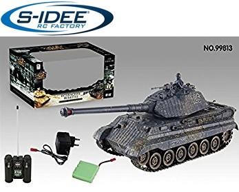 s-idee® 99813 Battle Panzer 1:28 mit integriertem Infrarot Kampfsystem 2.4 Ghz RC R/C ferngesteuert