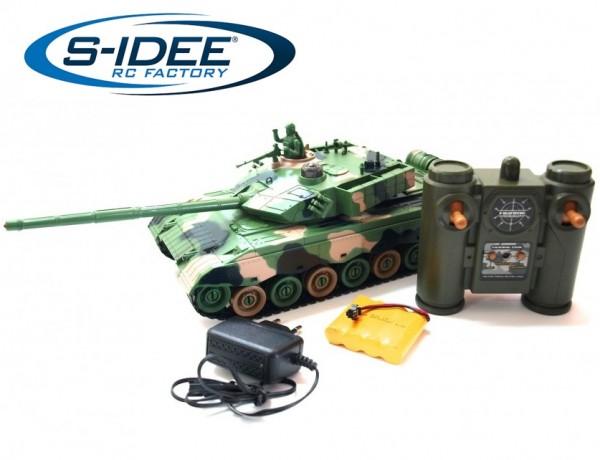 s-idee® Battle Panzer 99810 1:28 mit integriertem Infrarot Kampfsystem 2.4 Ghz RC R/C