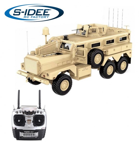 s-idee® HG P602 U.S.6X6 Explosion Proof Vehicle RC 1/12 2.4G 6WD