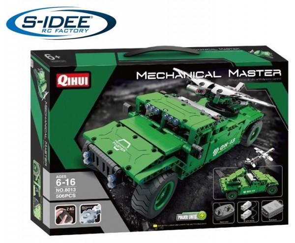 s-idee® 8013 RC Militär Bausteinfahrzeug mit Fernsteuerung