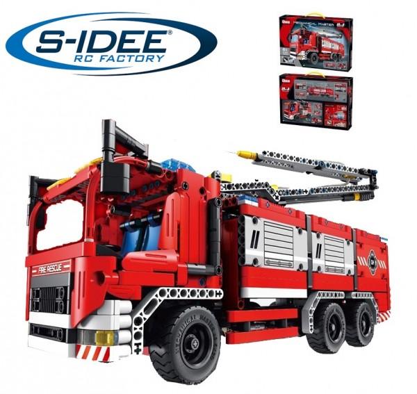 s-idee® 6805 Qihui Bausteinfahrzeug Feuerwehrauto 2in1-Modell