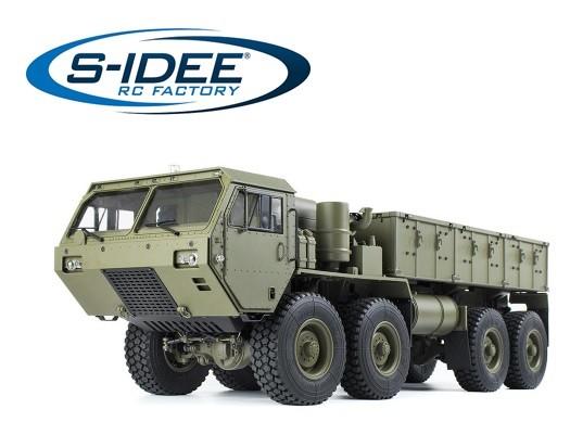 s-idee® S801 RC Militärtruck LKW Militärfahrzeug 1:12 mit 2,4 GHz Steuerung