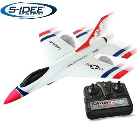 s-idee® 21005 Flugzeug FX823 Flieger rc ferngesteuert mit 2.4 Ghz Technik mit Lipo Akku