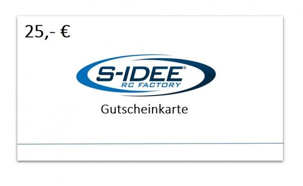 s-idee® Geschenkgutschein 25 €