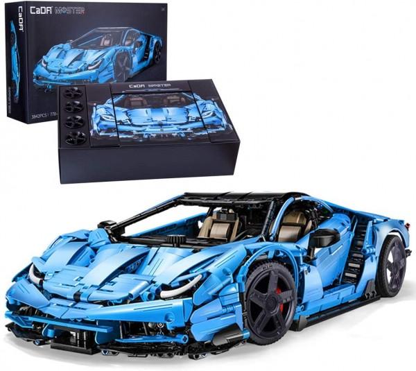 s-idee® Cada C61041W Bausteinfahrzeug 1:8 mit 3842 Teilen Rennauto Sportscar Supercar 770-4