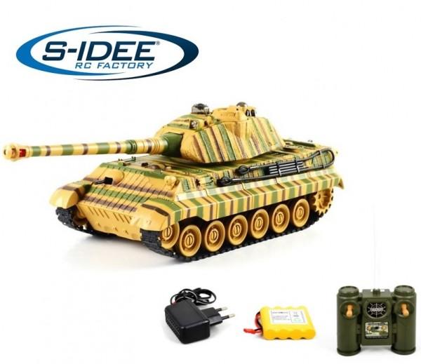 s-idee® Battle Panzer 99806 1:28 mit integriertem Infrarot Kampfsystem 2.4 Ghz RC R/C