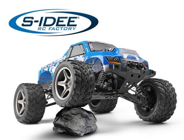 s-idee® 18150 S12402 RC Monsterbuggy 1:12 mit 2,4 GHz 50 km/h schnell, wendig WL 12402