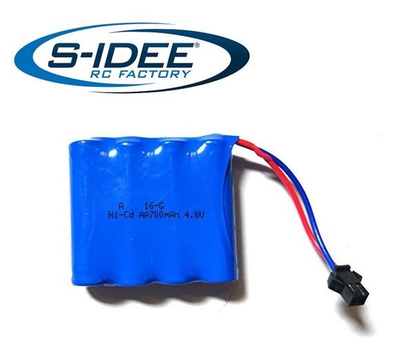 s-idee® Ersatzakku 4.8V 700 mAh Zubehör Ersatzteil für RC-Modell P1801 18132