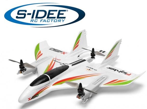 s-idee® XK X450 Flugzeug RC ferngesteuerter Flieger mit 2.4 Ghz