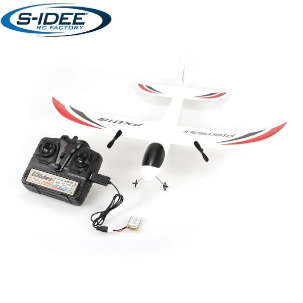 s-idee® 21004 Flugzeug FX818 Flieger rc ferngesteuert mit 2.4 Ghz Technik mit Lipo Akku