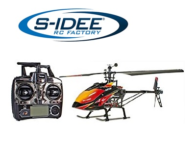 S107G 3 Kanal Radio R//C Ferngesteuerter Hubschrauber Helikopter Gyro Rot OO