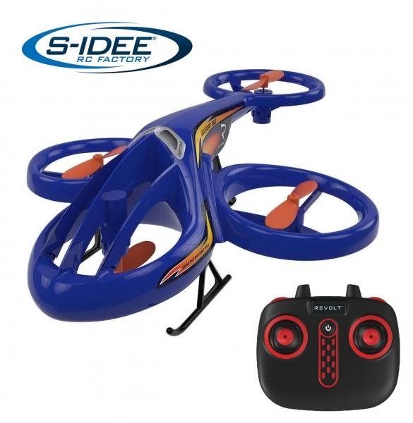 s-idee® Syma TF1001 Heli Hubschrauber RC ferngesteuerter Hubschrauber/Helikopter blau
