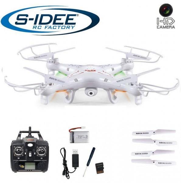 s-idee 01541 Quadrocopter X5C Forscher Syma X5C HD Kamera mit Tonaufzeichnung mit Motor-Stopp-Funkti