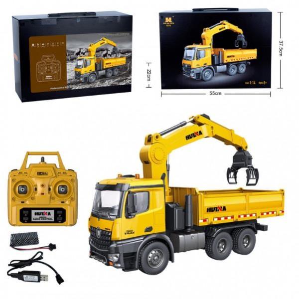 s-idee® S1575 Rc Kipplader mit Kran Dump Truck 1:14 Lkw 26 Kanal Huina 1575