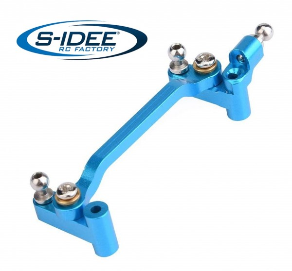 s-idee® Aluminium Lenkzylinder Montageblock Zubehör Ersatzteil für RC-Modell A959 A959-A A959-B A979