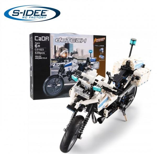 s-idee® Cada C51023W Polizei Bausteinmotorrad