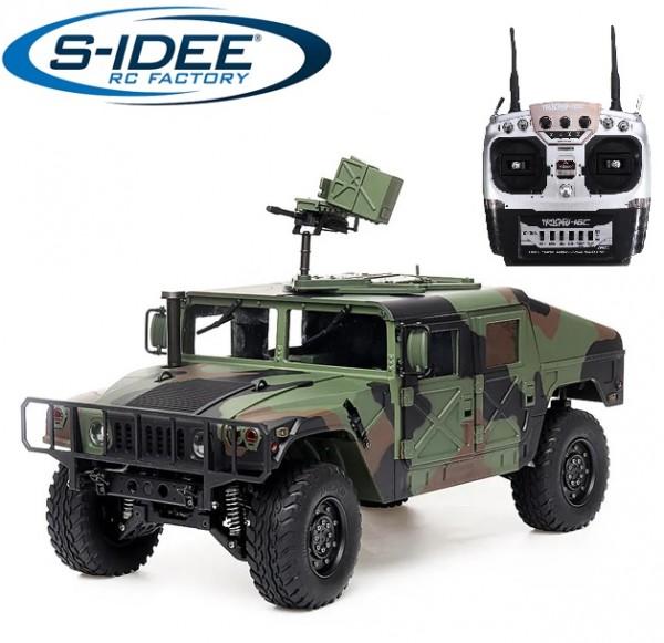 s-idee® HG P408 Militrary inkl. Akku, Ladegerät RC 1/10 2.4G 4WD 16CH 30 km/h Rc Model C