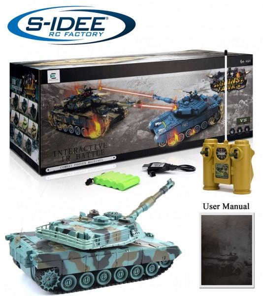 s-idee® Battle Panzer 99804 1:28 mit integriertem Infrarot Kampfsystem 2.4 Ghz RC R/C ferngest