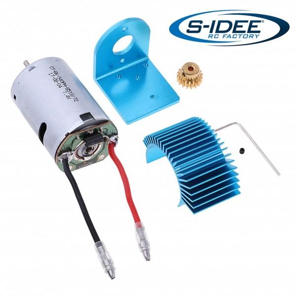 s-idee® Motor, Motorhalterungssatz, Motorritzel und Kühlkörper Zubehör Ersatzteil für 12428
